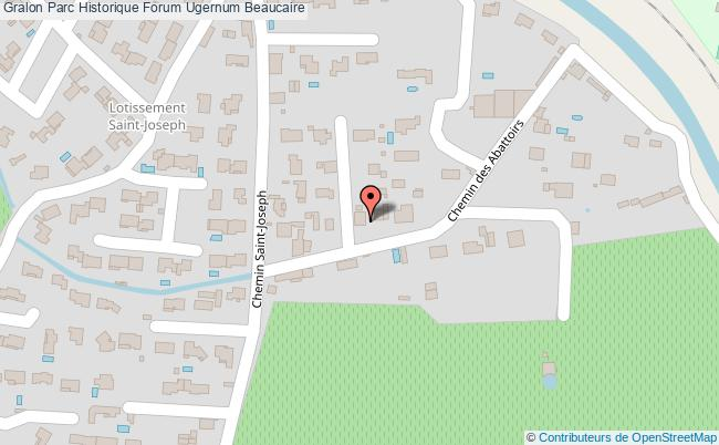 plan Parc Historique Forum Ugernum Beaucaire