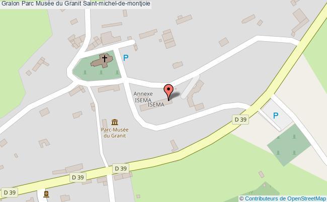plan Parc Musée Du Granit Saint-michel-de-montjoie