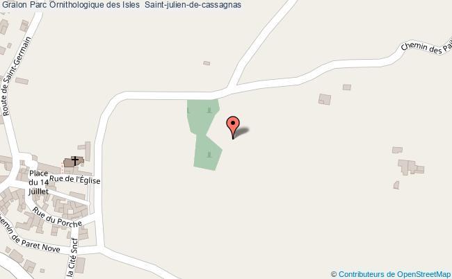 plan Parc Ornithologique Des Isles  Saint-julien-de-cassagnas