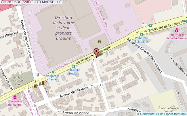 plan Parc Saint-cyr Marseille