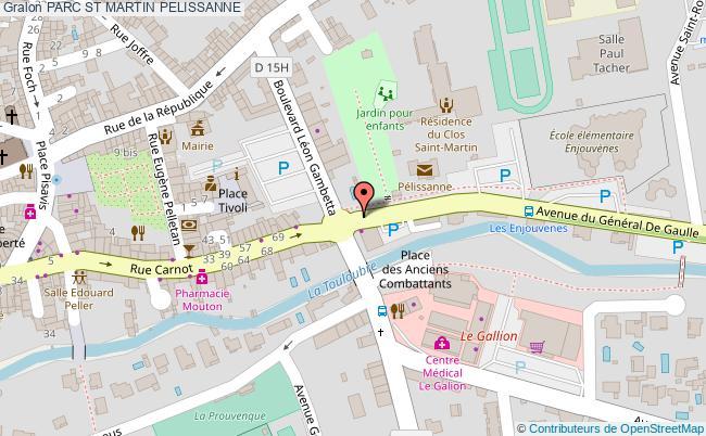 plan Parc St Martin Pelissanne