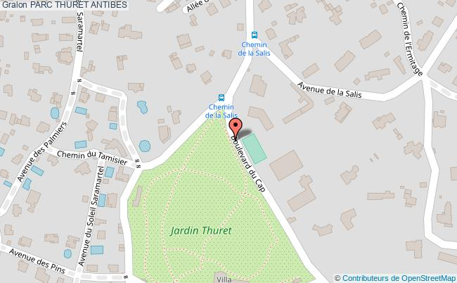 plan Parc Thuret Antibes