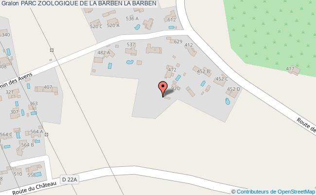 plan Parc Zoologique De La Barben La Barben