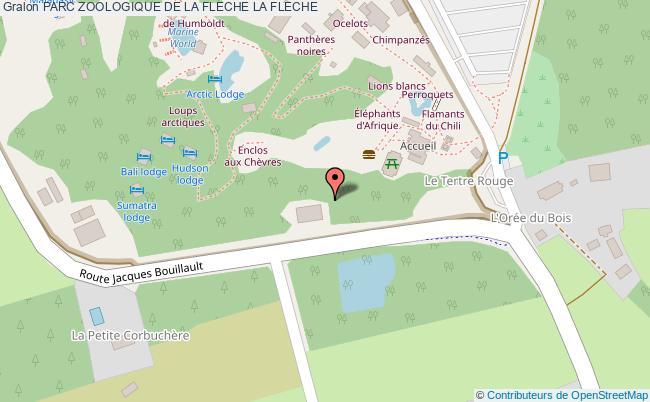 plan Parc Zoologique De La Fleche La Fleche
