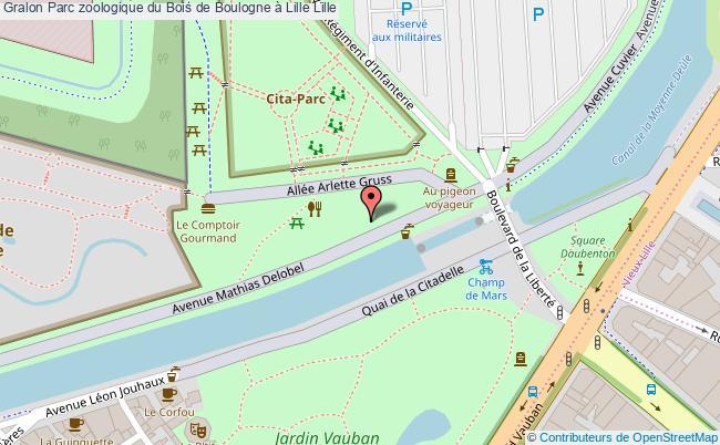 plan Parc Zoologique Du Bois De Boulogne à Lille Lille