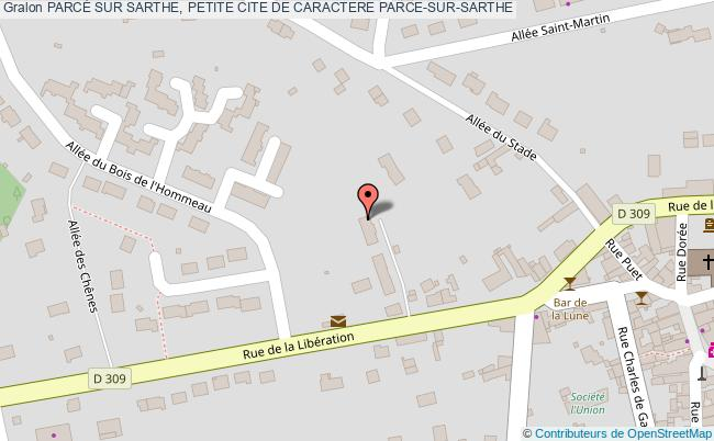 plan ParcÉ Sur Sarthe, Petite Cite De Caractere Parce-sur-sarthe