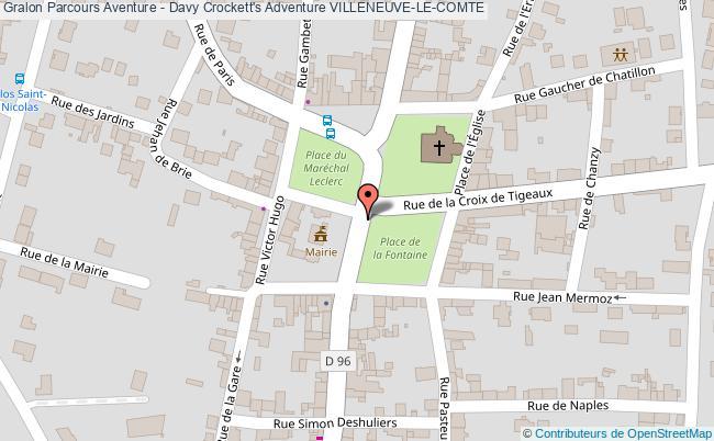 plan Parcours Aventure - Davy Crockett's Adventure Villeneuve-le-comte