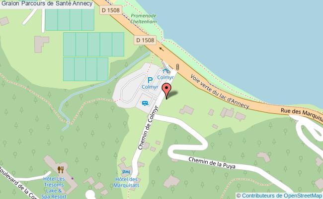 plan Parcours De Santé Annecy