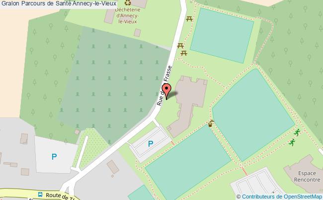 plan Parcours De Santé Annecy-le-vieux