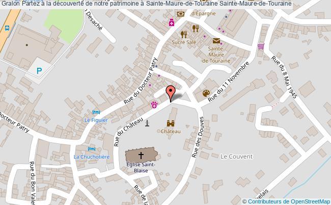 plan Partez à La Découverte De Notre Patrimoine à Sainte-maure-de-touraine Sainte-maure-de-touraine