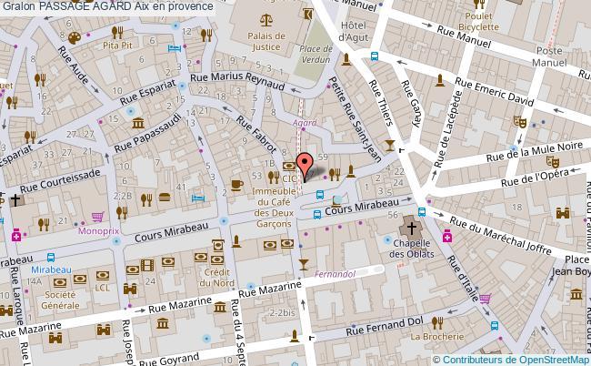 plan Passage Agard Aix En Provence