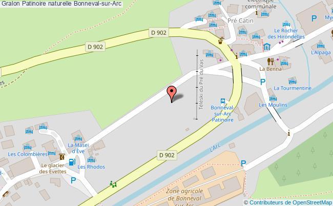 plan association Patinoire Naturelle Bonneval-sur-arc Bonneval-sur-Arc