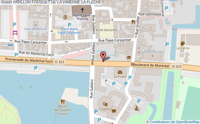 plan Pavillon Fouquet De La Varenne La Fleche
