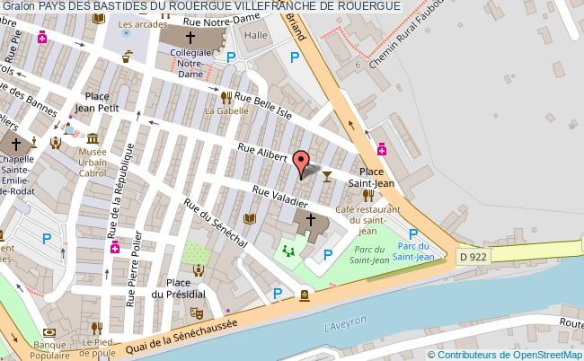 plan Pays Des Bastides Du Rouergue Villefranche De Rouergue