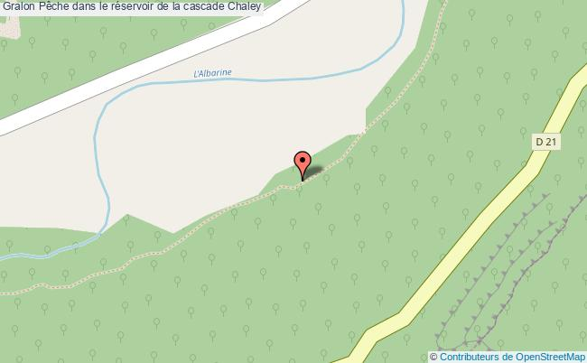 plan Pêche Dans Le Réservoir De La Cascade Chaley