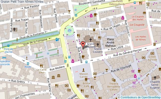 plan Petit Train Nîmes Nîmes