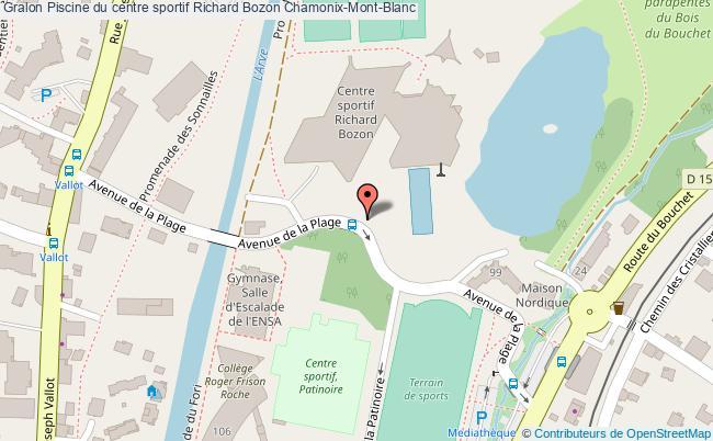 plan Piscine Du Centre Sportif Richard Bozon Chamonix-mont-blanc