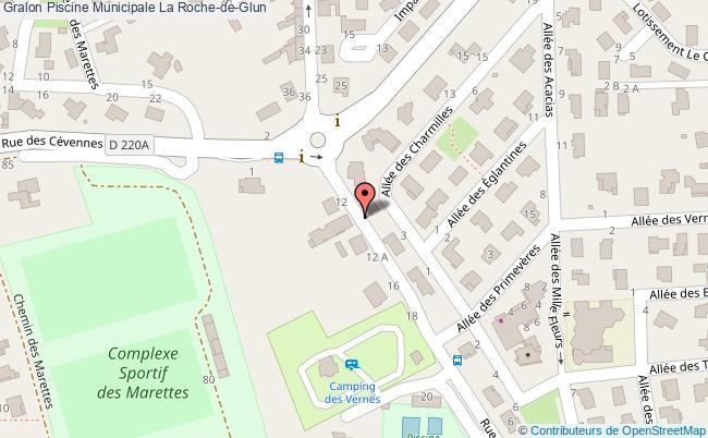 plan association Piscine Municipale La Roche-de-glun La Roche-de-Glun