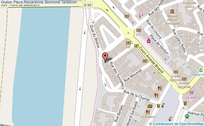 plan Place Alexandrine Bremond Tarascon