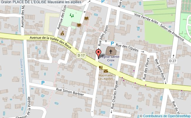 plan Place De L'eglise Maussane Les Alpilles
