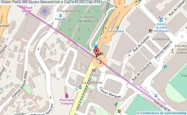 plan Place Dite Square Baeverbrook à Cap-d'ail (06) Cap-d'ail