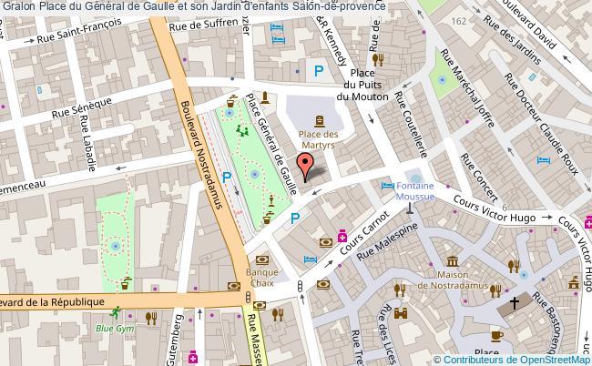 plan Place Du Général De Gaulle Et Son Jardin D'enfants Salon-de-provence