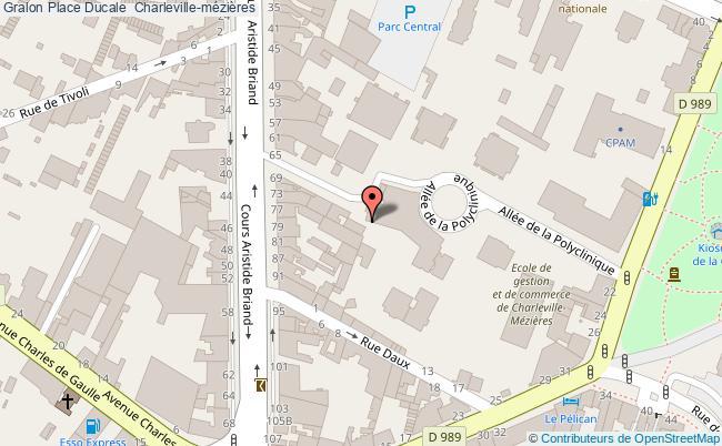 plan association Place Ducale  Charleville-mézières Charleville-mézières