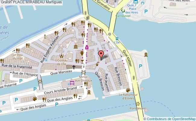 plan Place Mirabeau Martigues
