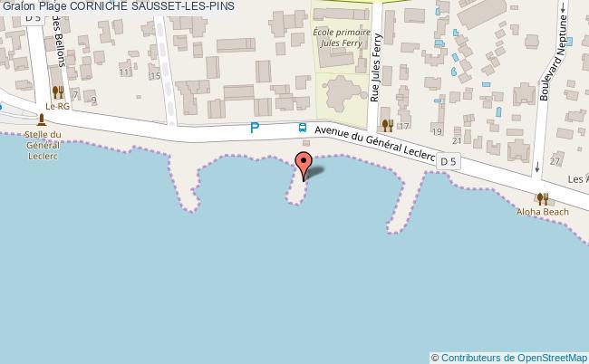 plan Corniche Sausset-les-pins