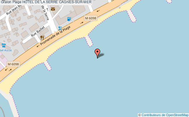 plan Hotel De La Serre Cagnes-sur-mer