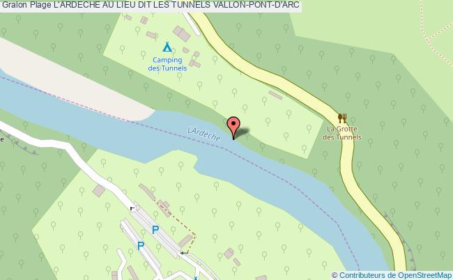 plan L'ardeche Au Lieu Dit Les Tunnels Vallon-pont-d'arc