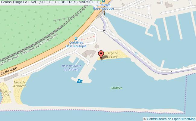 plan La Lave (site De Corbieres) Marseille