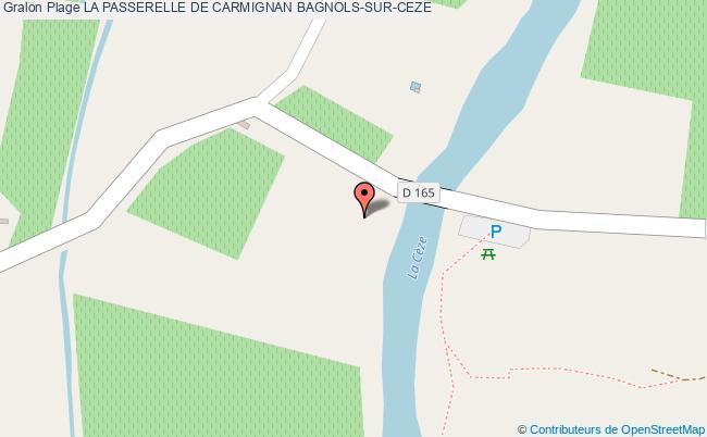 plan La Passerelle De Carmignan Bagnols-sur-ceze
