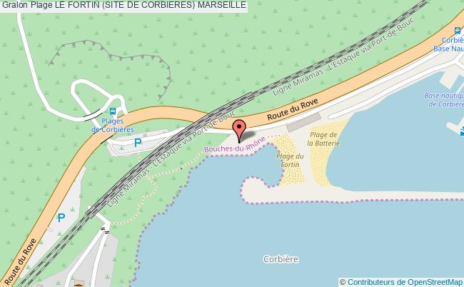 plan Le Fortin (site De Corbieres) Marseille