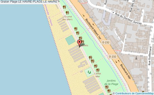 plan Le Havre-plage Le Havre
