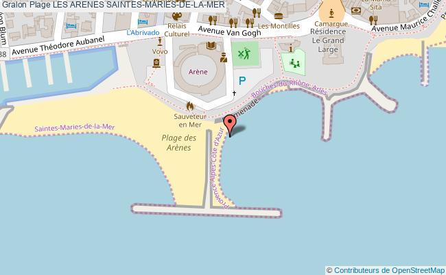 plan Les Arenes Saintes-maries-de-la-mer