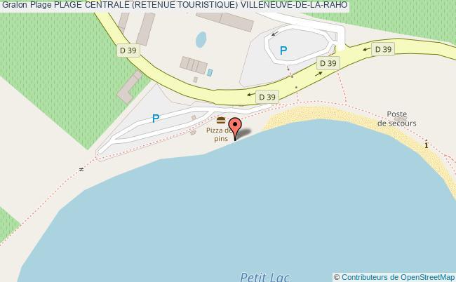 plan Plage Centrale (retenue Touristique) Villeneuve-de-la-raho