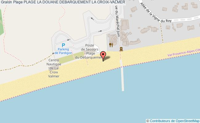 plan Plage La Douane Debarquement La Croix-valmer