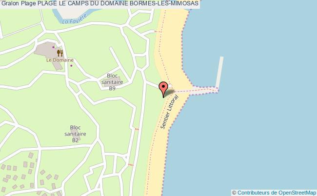 plan Plage Le Camps Du Domaine Bormes-les-mimosas