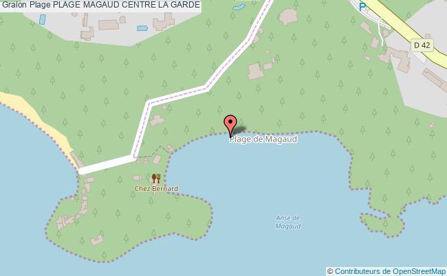 plan Plage Magaud Centre La Garde