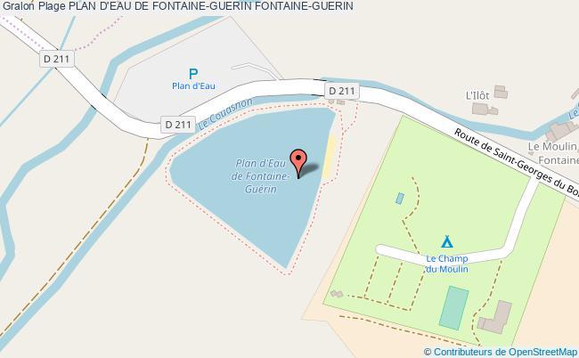 plan Plan D'eau De Fontaine-guerin Fontaine-guerin