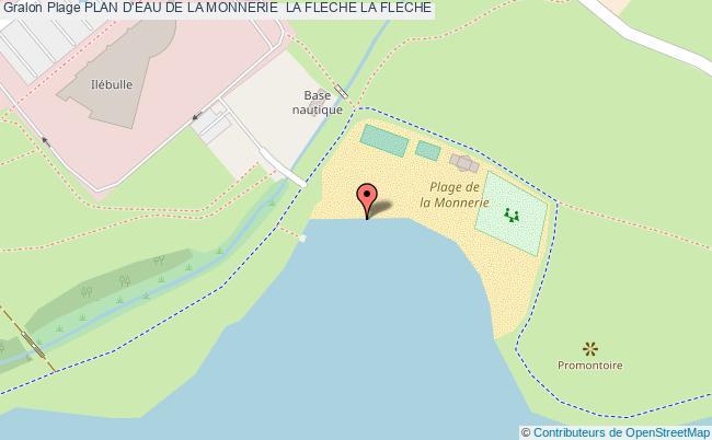 plan Plan D'eau De La Monnerie  La Fleche La Fleche