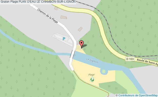 plan Plan D'eau Le Chambon-sur-lignon