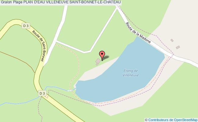 plan Plan D'eau Villeneuve Saint-bonnet-le-chateau