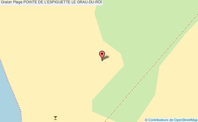 plan Pointe De L'espiguette Le Grau-du-roi