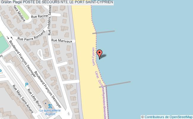 plan Poste De Secours N?3, Le Port Saint-cyprien