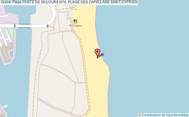 plan Poste De Secours N?4, Plage Des Capellans Saint-cyprien