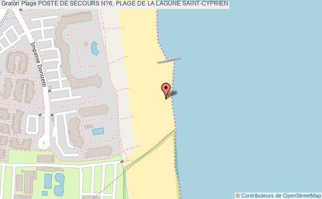 plan Poste De Secours N?6, Plage De La Lagune Saint-cyprien