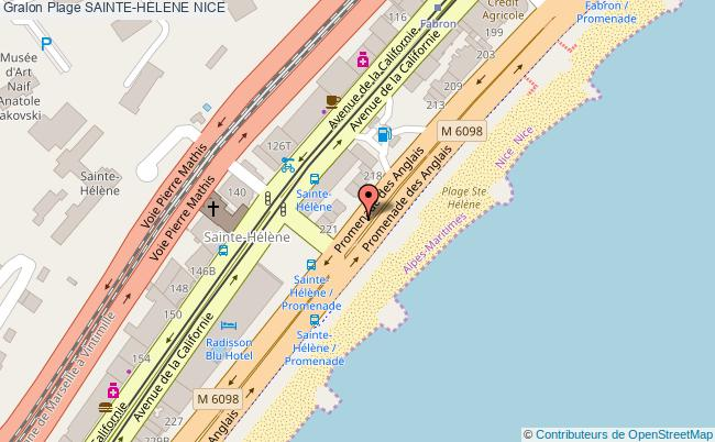 plan Sainte-helene Nice