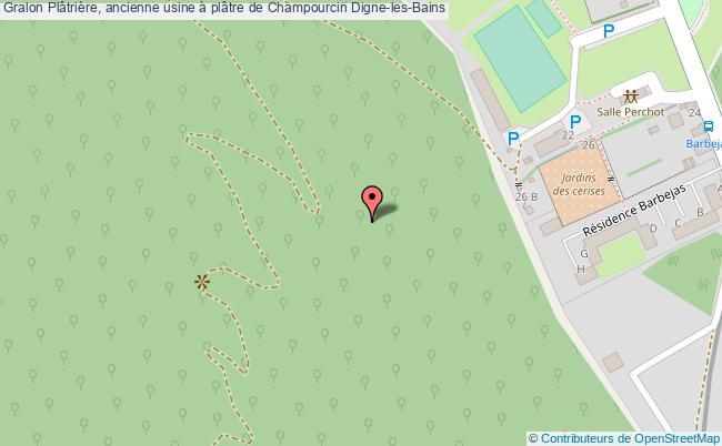 plan Plâtrière, Ancienne Usine à Plâtre De Champourcin Digne-les-bains